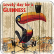 Guinness Toucan Weather Vane cork backed drinks coaster (sg)